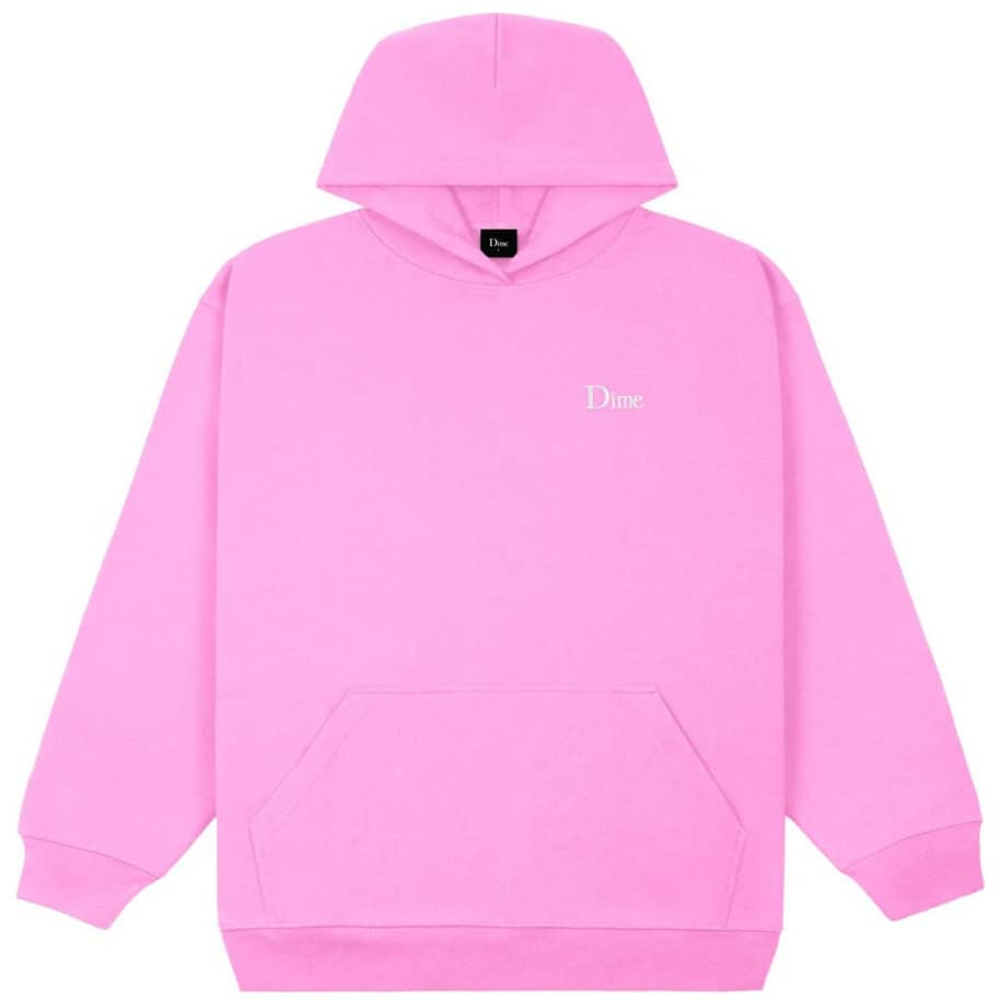 Dime Classic Small Logo Hoodie - Light Pink   Sweatshirt by Dime 1