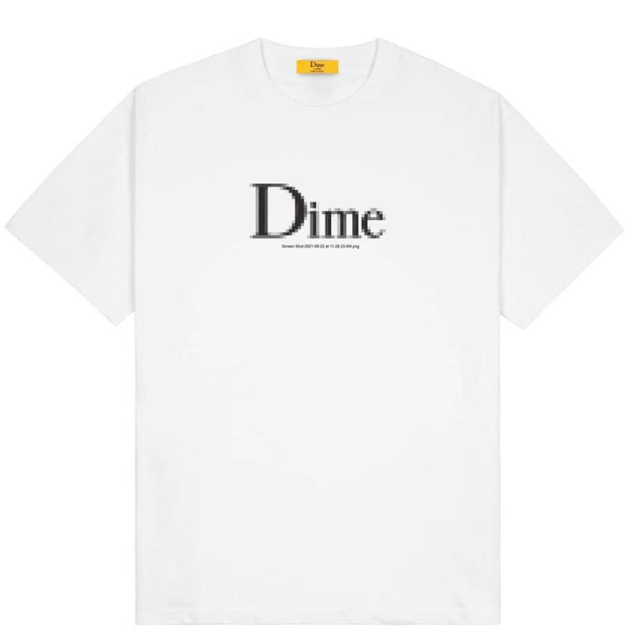 Dime Classic Screenshot T-Shirt - White | T-Shirt by Dime 1