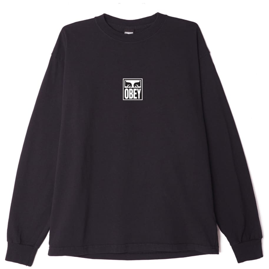 OBEY Eyes Icon 3 Long Sleeve T-Shirt - Off Black   Longsleeve by OBEY Clothing 1