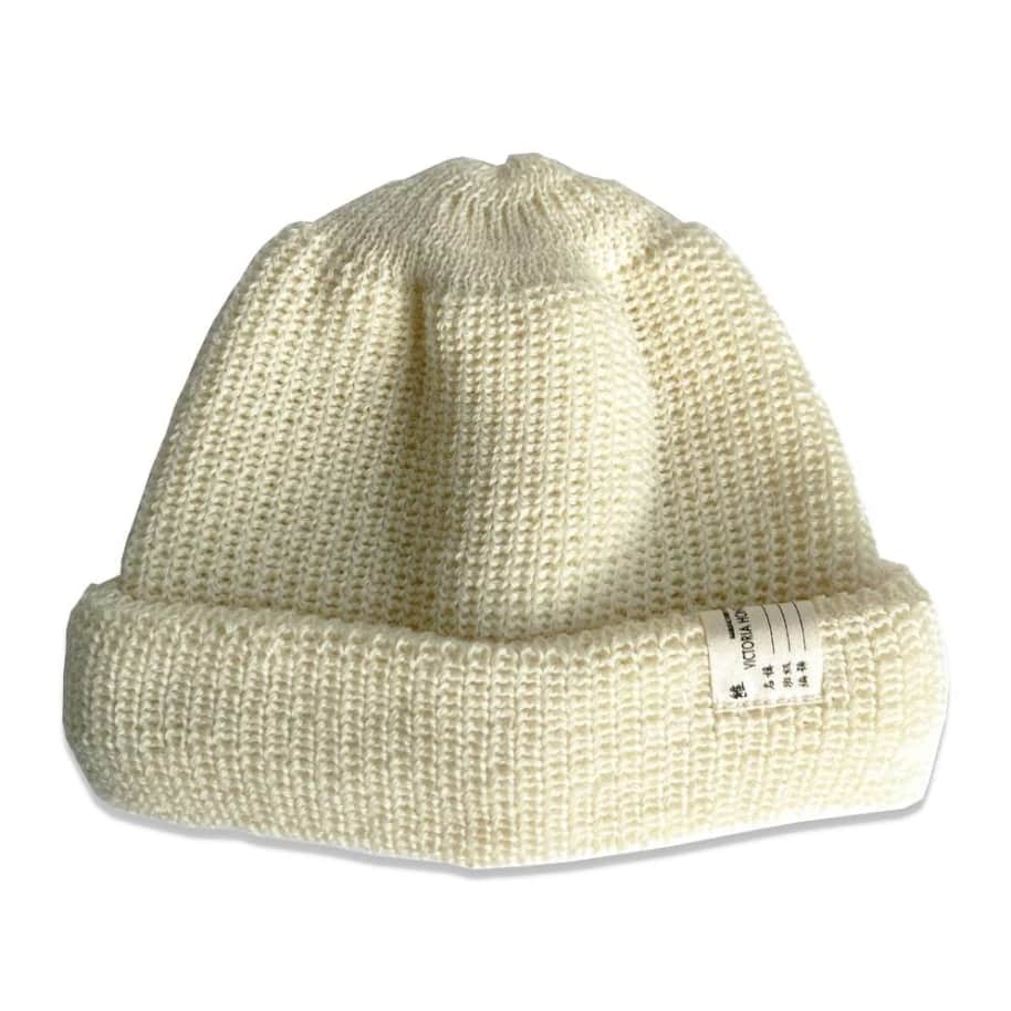 Victoria HK Double Folded Beanie - Off White   Beanie by Victoria HK 1