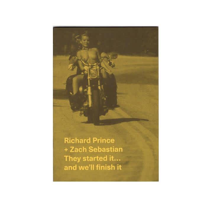 Innen Zines - Richard Prince + Zach Sebastian - They started it… and we'll finish it. | Book by Innen Zines 1