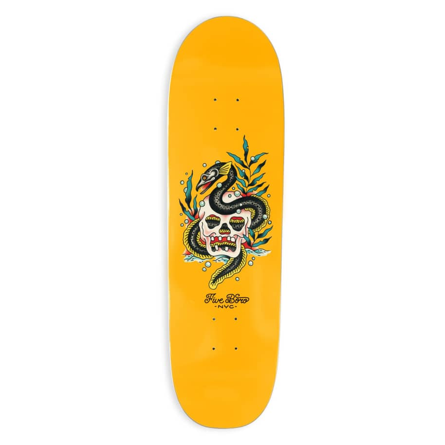 5Boro Skull and Eel Deck 8.75 (Shred Shape) | Deck by 5Boro NYC 1