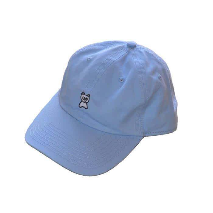 Meow Unstructured Hat (Baby Blue) | Baseball Cap by Meow Skateboards 1