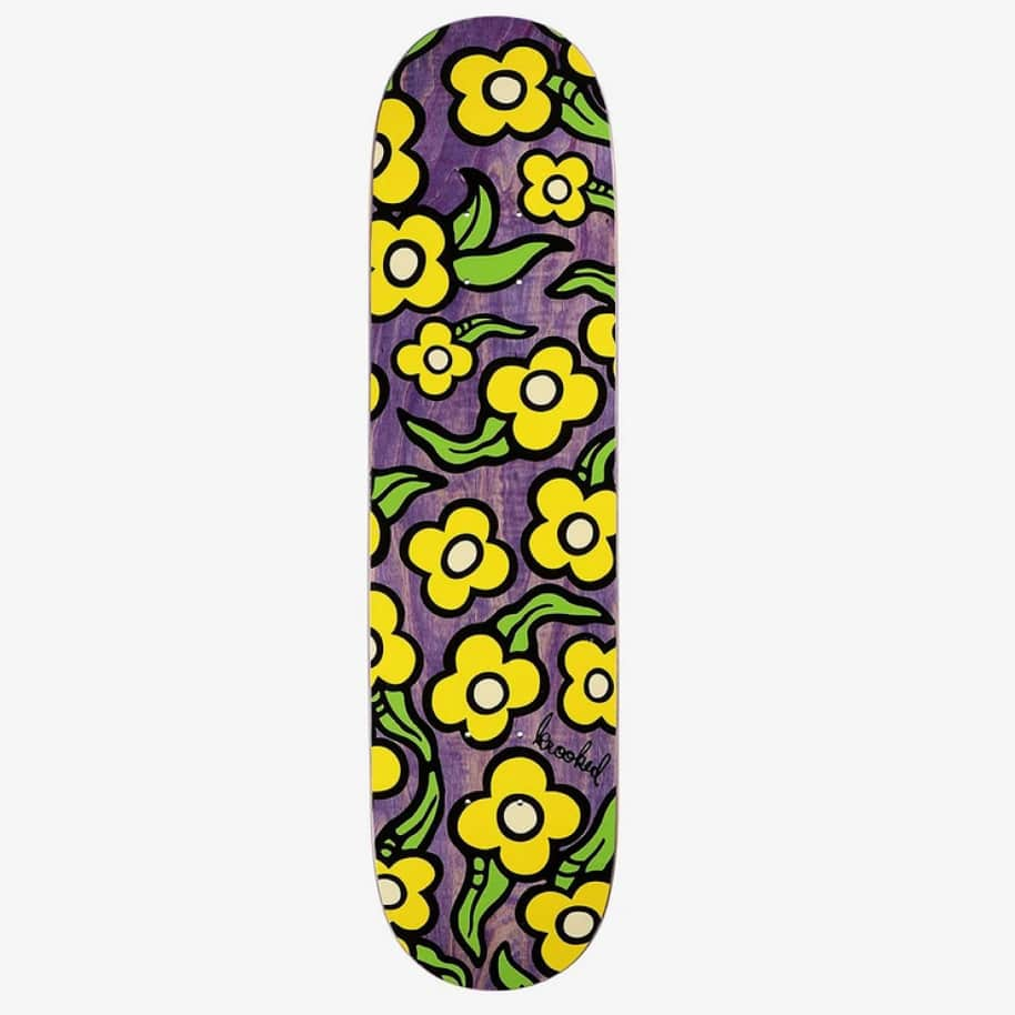 Krooked - Wild Style Flowers - 7.75   Deck by Krooked Skateboards 1