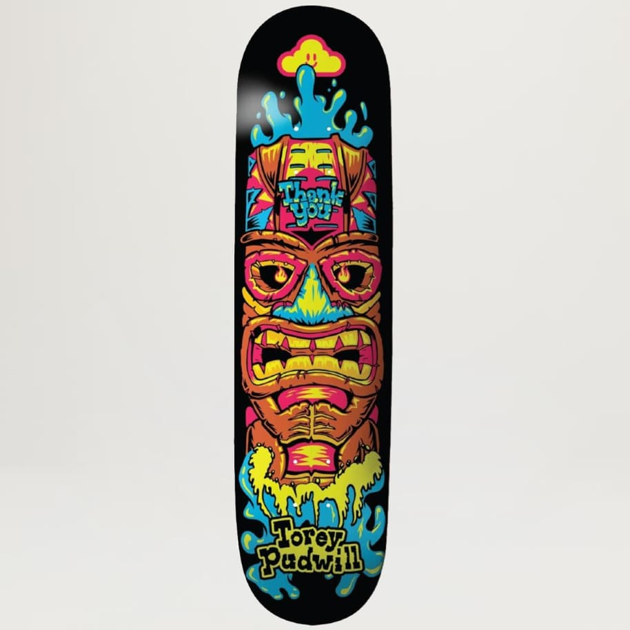 Thank You Torey Pudwill Tiki 8.25 | Deck by Thank You Skate Co 1