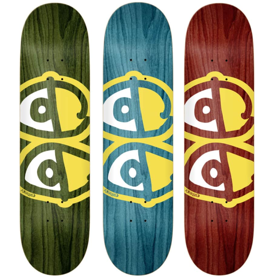 Krooked - Eyes Assorted Stains Deck (Multiple Sizes) | Deck by Krooked Skateboards 1