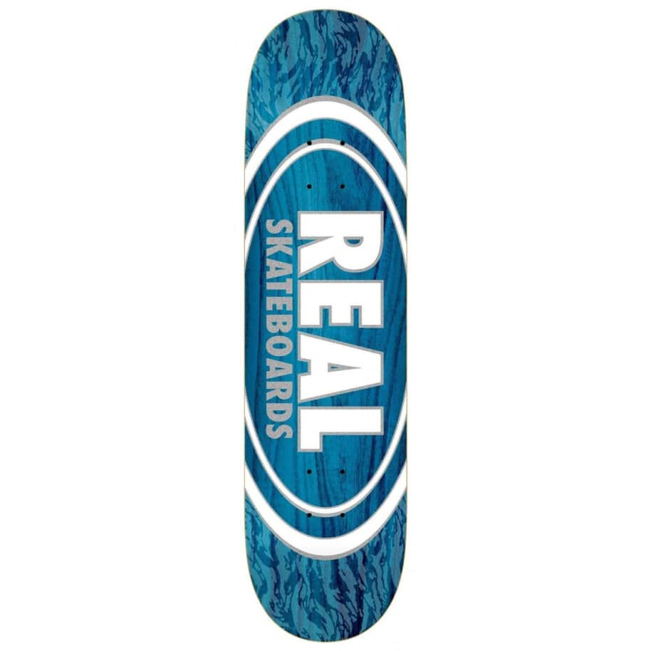 """Real Oval Pearl Patterns Deck 8.06"""" 