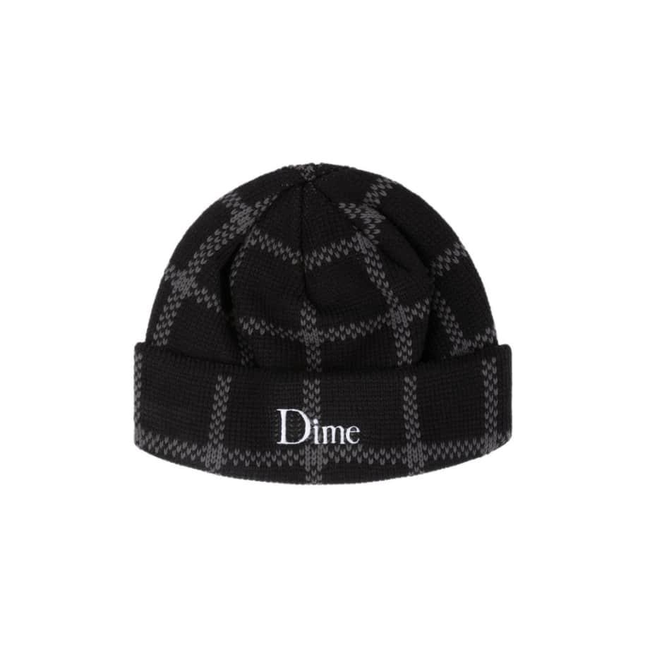 Dime Classic Plaid Beanie Black   Beanie by Dime 1