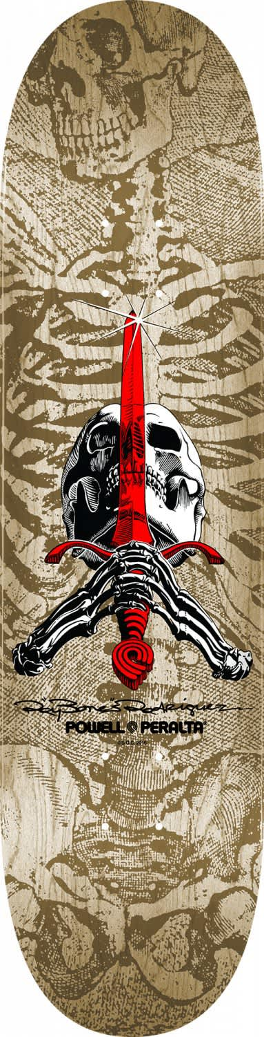 Powell Peralta Skull And Sword Natural Skateboard Deck 9.06   Deck by Powell Peralta 1