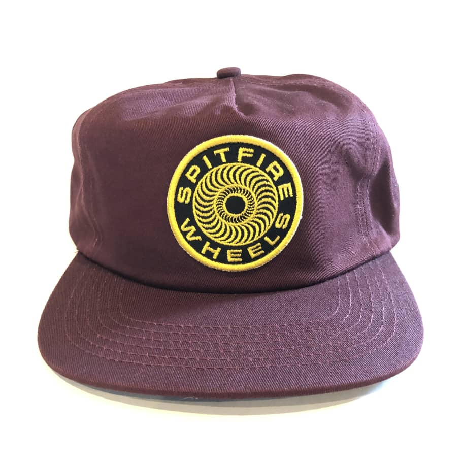Spitfire Classic 87 Swirl Patch Snapback - Brown/Yellow | Snapback Cap by Spitfire Wheels 1