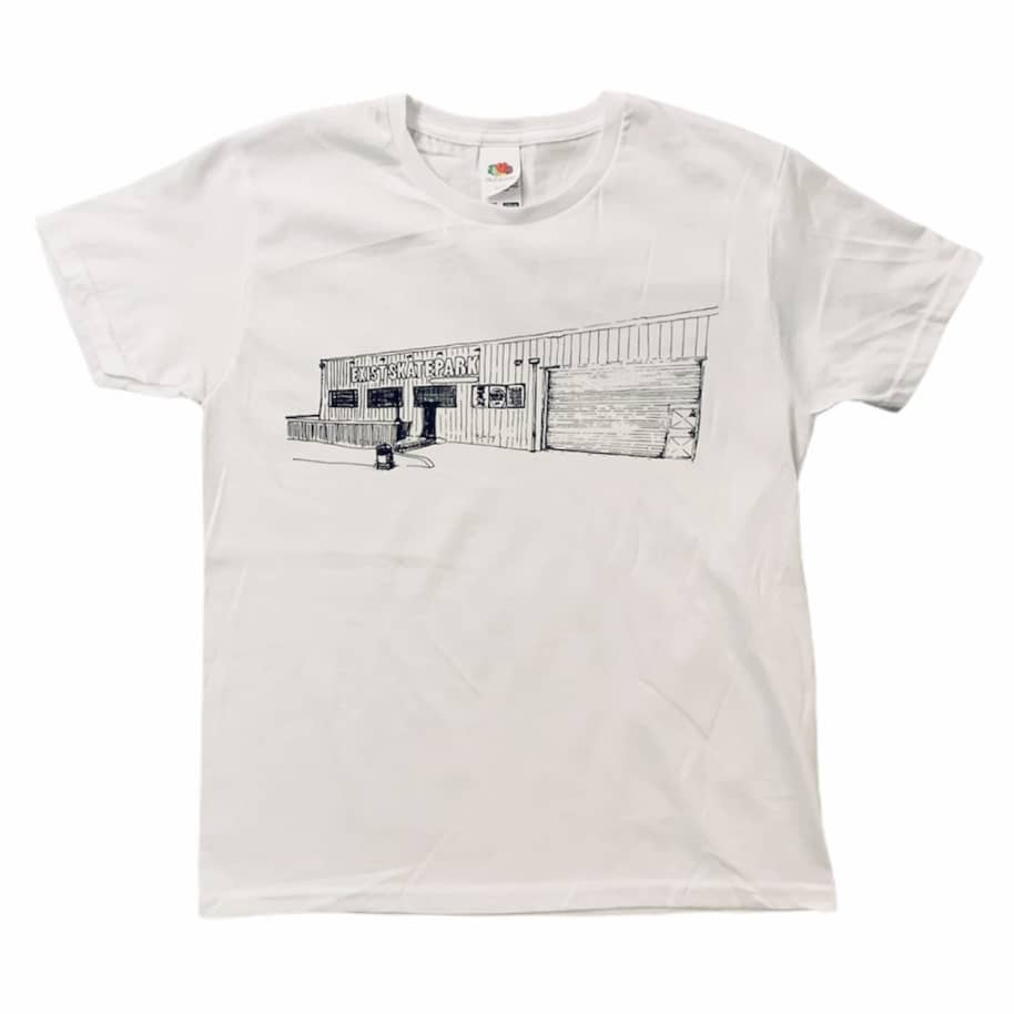 Exist Skatepark T-Shirt White (Youth)   T-Shirt by Exist Skate Store 1