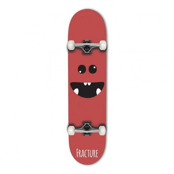 """Fracture Complete Skateboard Lil Monsters Red 8.0"""" 