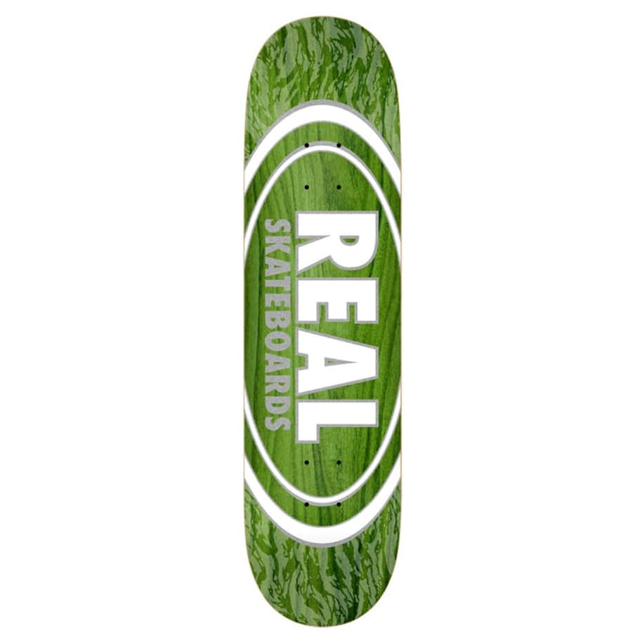 Oval Patterns Team Series - Green - 7.75   Deck by Real Skateboards 1
