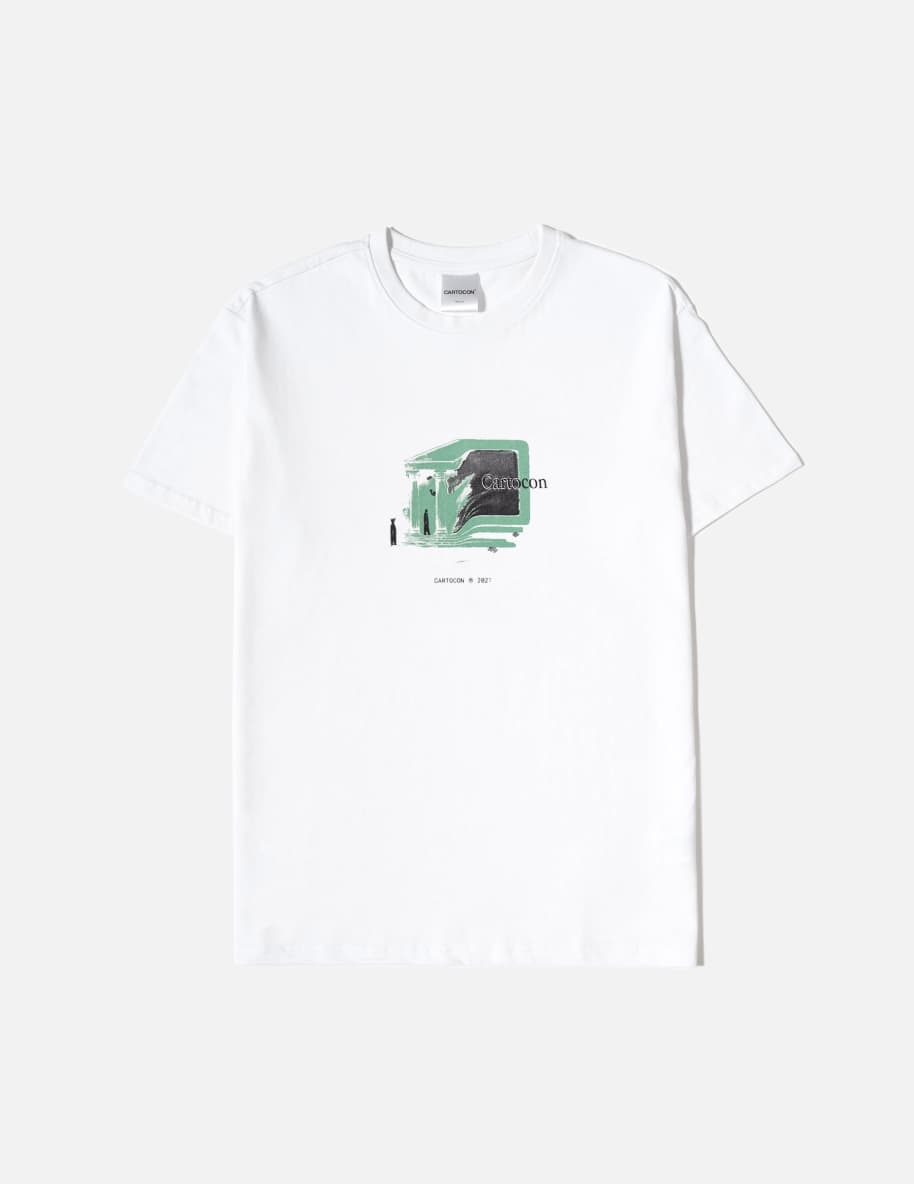 CARTOCON Brave New World T-Shirt - White   T-Shirt by Cartocon 1
