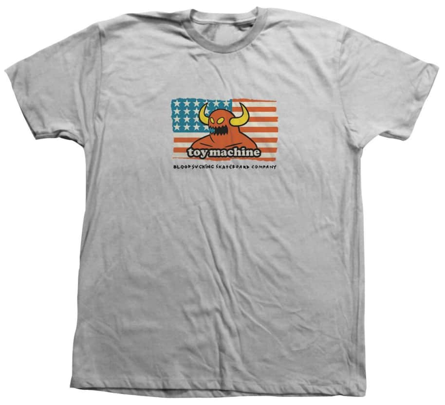 Toy Machine American Blood Sucking Company Tee Silver | T-Shirt by Toy Machine 1