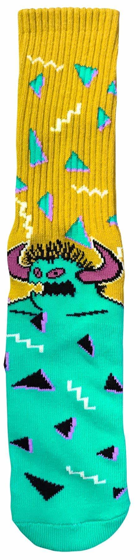Toy Machine 80s Monster Crew Socks Yellow/Turq | Socks by Toy Machine 1