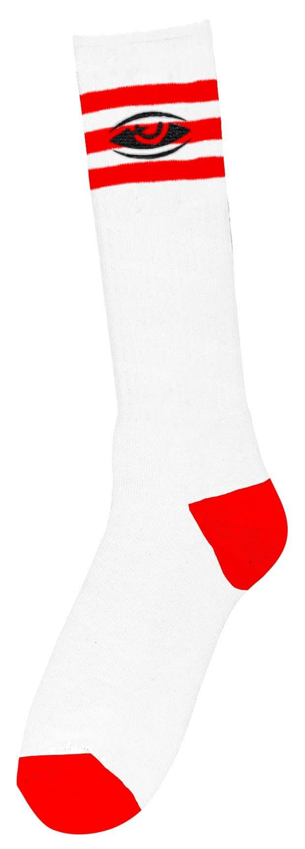 Toy Machine Watching Embroidered Socks Red   Socks by Toy Machine 1
