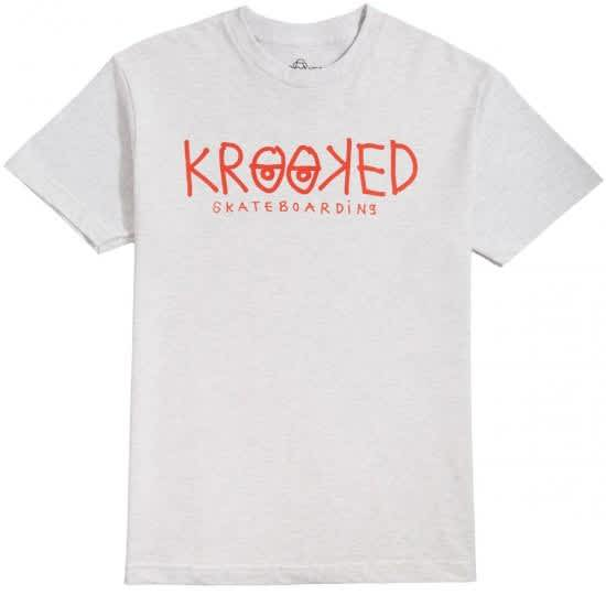 Krooked Krooked Eyes Tee Ash/Red   T-Shirt by Krooked Skateboards 1