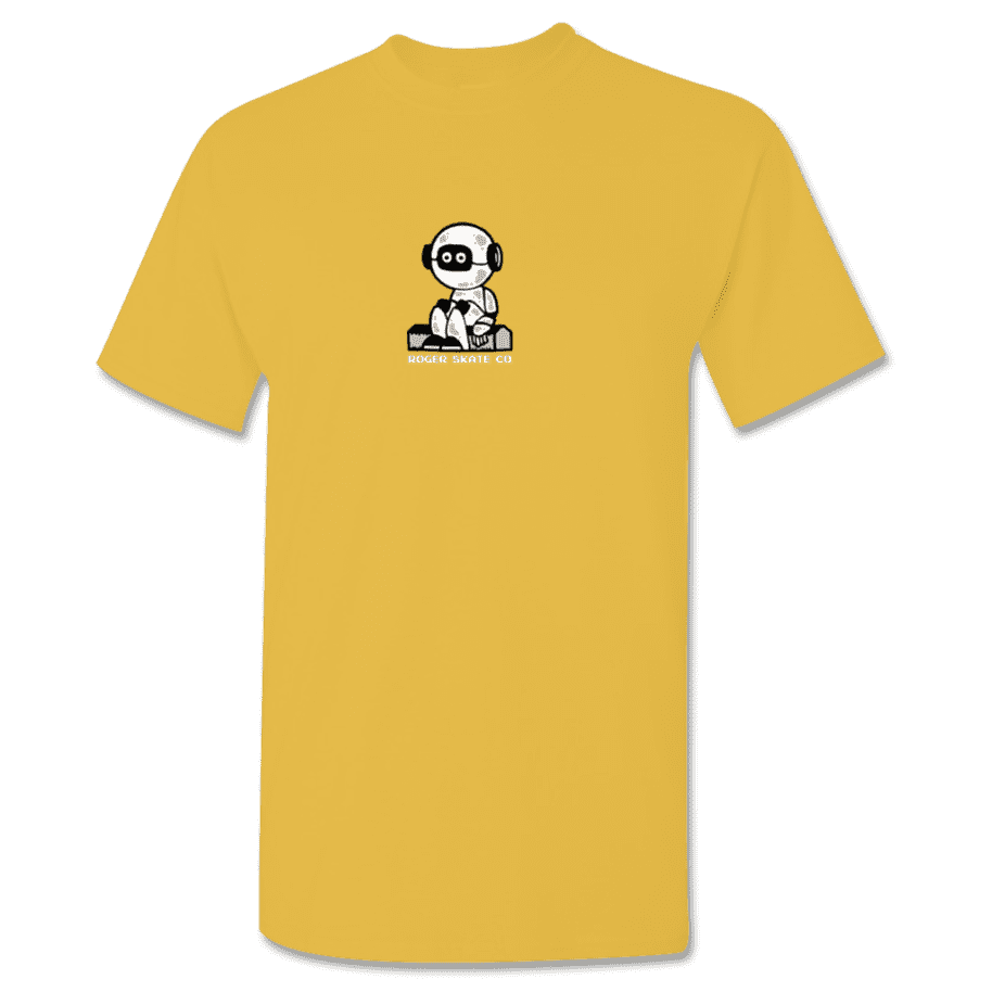 ROGER - Curbot Tee Gold | T-Shirt by Roger Skate Co. 1