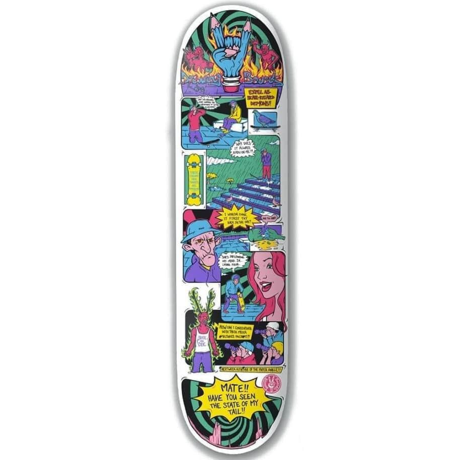 """The Drawing Boards Demons Skateboard Deck 8.25""""   Deck by The Drawing Boards 1"""