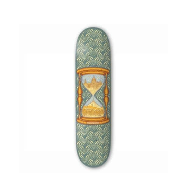 """The Drawing Boards Time Skateboard Deck 8""""   Deck by The Drawing Boards 1"""