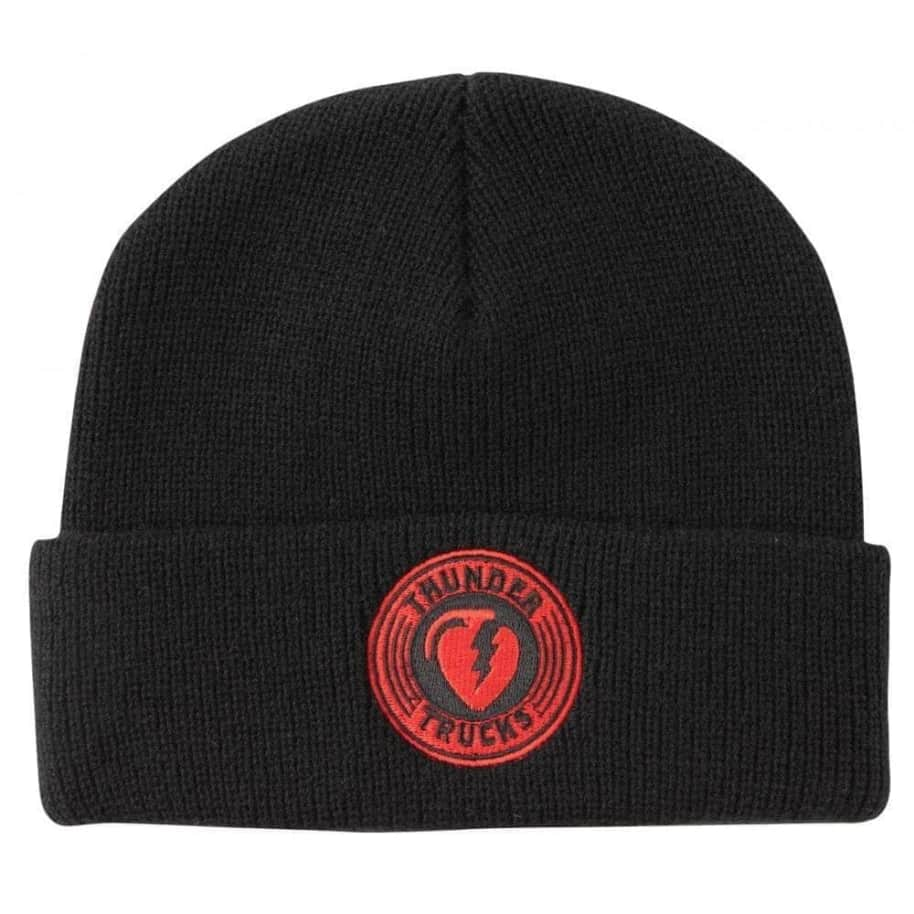 Thunder Truck Co Cuff Beanie Charged Grenade Black/Red   Beanie by Thunder Trucks 1