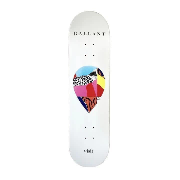 "Visit Skateboarding Gallant Scrap Logo Deck 8.25"" White   Deck by Visit Skateboarding 1"