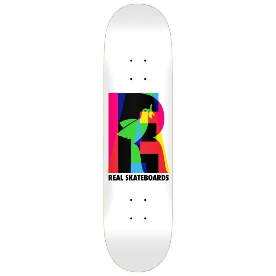 """Real Skateboards Team Eclipsing True Mid White 7.68""""   Deck by Real Skateboards 1"""