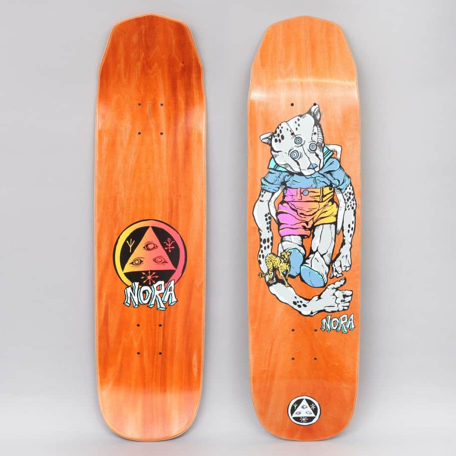 Welcome 8.125 Nora Teddy On Wicket Princess Skateboard Deck Grey | Deck by Welcome Skateboards 1