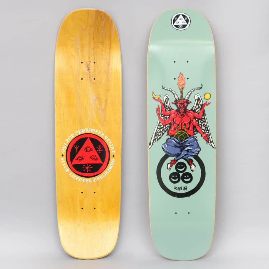Welcome 8.6 Lay Bapholit On Stonecipher Skateboard Deck Sage | Deck by Welcome Skateboards 1