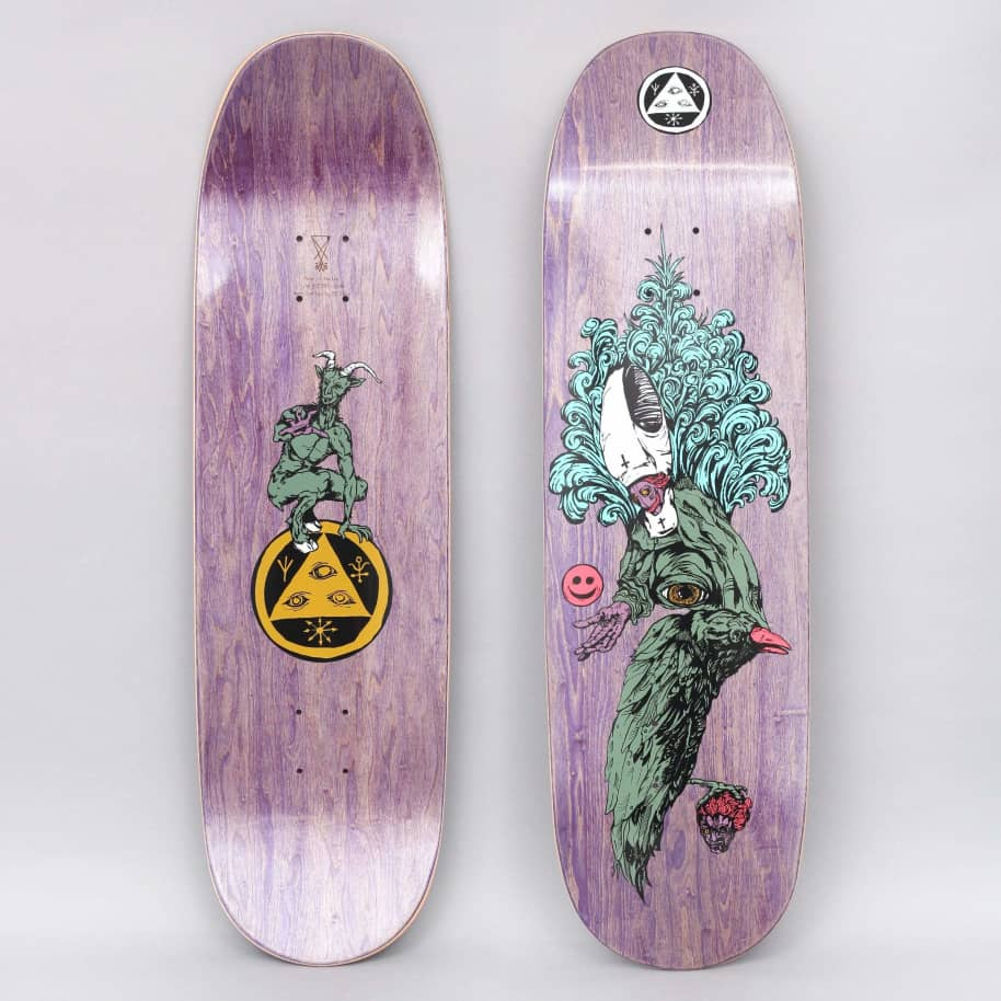 Welcome 9 Tonight I'm Yours On Baculus Skateboard Deck Purple Stain | Deck by Welcome Skateboards 1