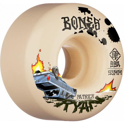 Bones Wheels Ryan Patrick Pro - Crash & Burn STF V4 Wide 99A 53mm | Wheels by BONES 1