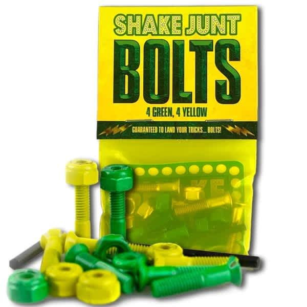 Shake Junt Bolts (4green and 4yellow) 7/8in. allen   Bolts by Shake Junt 1