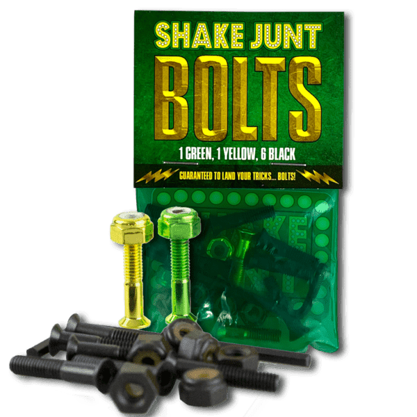 Shake Junt Bolts (1Green, 1 Yellow, 6Black) 1in. Phillips   Bolts by Shake Junt 1