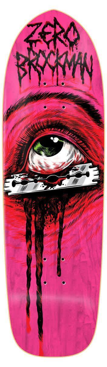 Zero Brockman Razor Eye Shaped 9.25 Deck   Deck by Zero Skateboards 1