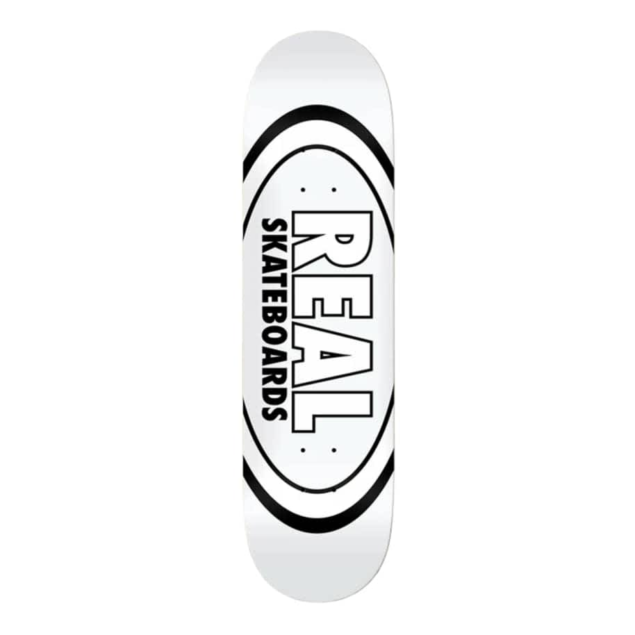 Real Classic Oval White 8.38 Deck   Deck by Real Skateboards 1