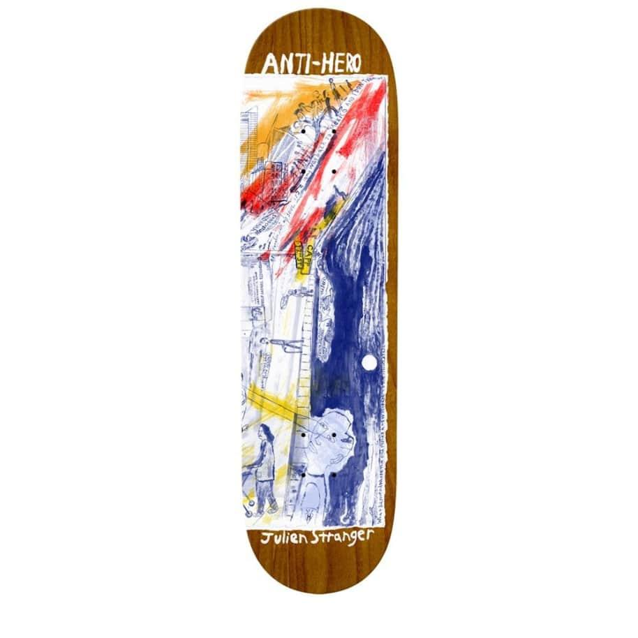 ANTI-HERO Stranger SF Then And Now 8.4 Skateboard Deck ***WARPED*** | Deck by Antihero Skateboards 1