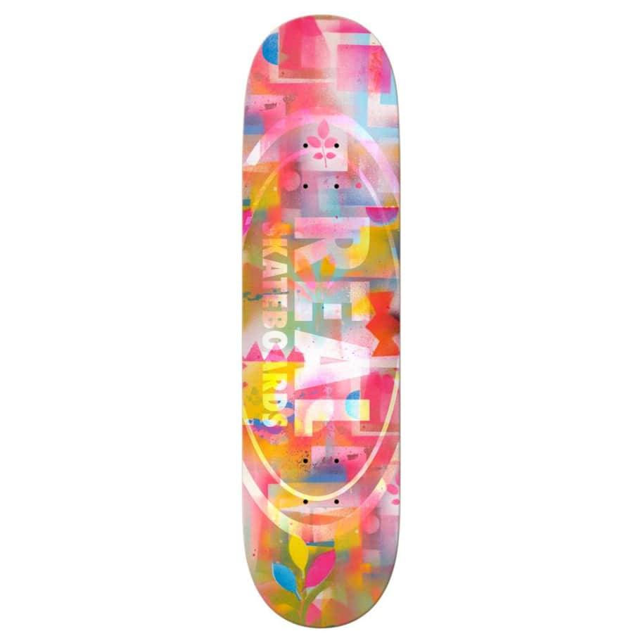 REAL Team Acrylics 8.38 Skateboard Deck | Deck by Real Skateboards 1