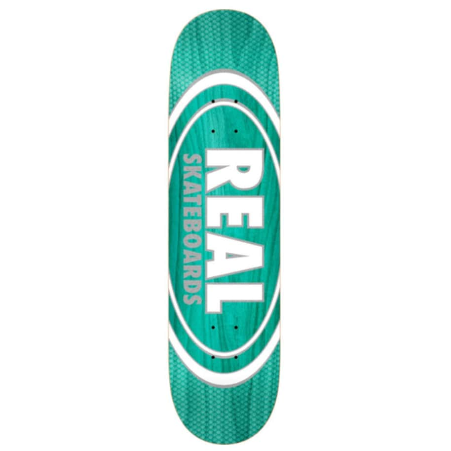 """Real Deck - Oval Pearl Patterns 7.75""""   Deck by Real Skateboards 1"""