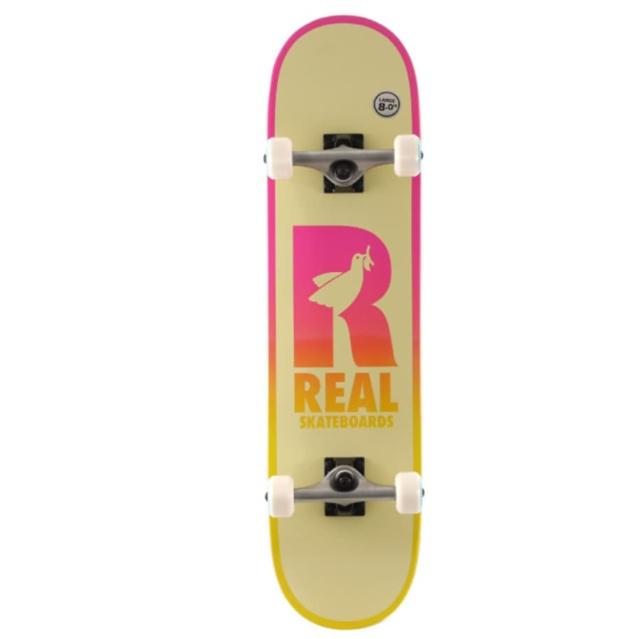 """Real Complete - Be Free 8""""   Complete Skateboard by Real Skateboards 1"""