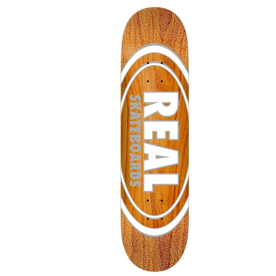 """Real Deck - Oval Pearl Patterns 8.38""""   Deck by Real Skateboards 1"""