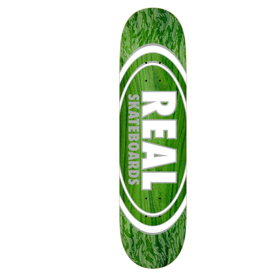 """Real Deck - Oval Pearl Patterns 8.5""""   Deck by Real Skateboards 1"""