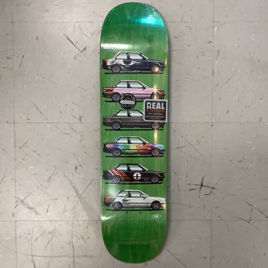 Real Skateboards Ishod Wair Customs Twin Tail Green Deck 8.0 | Deck by Real Skateboards 1