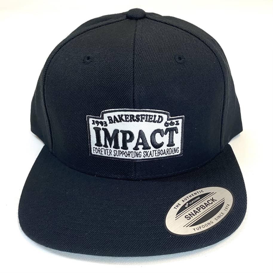 IMPACT Motto Snapback Hat Black   Snapback Cap by Impact Skate 1