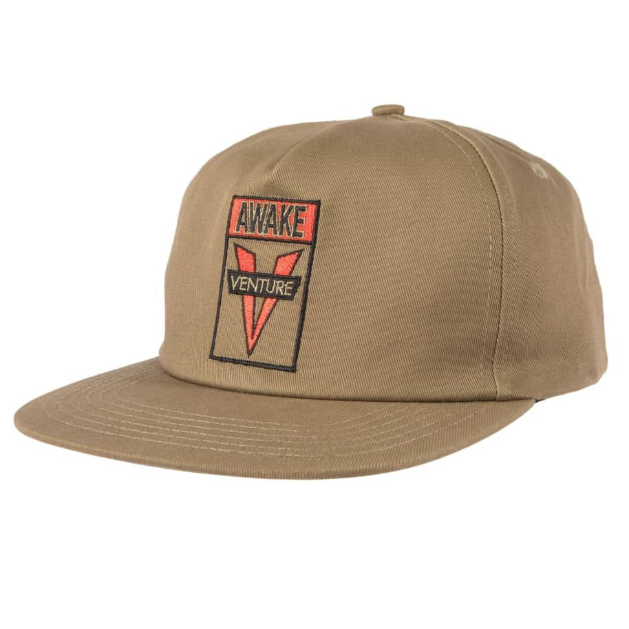 VENTURE Awake Snapback Hat Khaki/Red | Snapback Cap by Venture Trucks 1