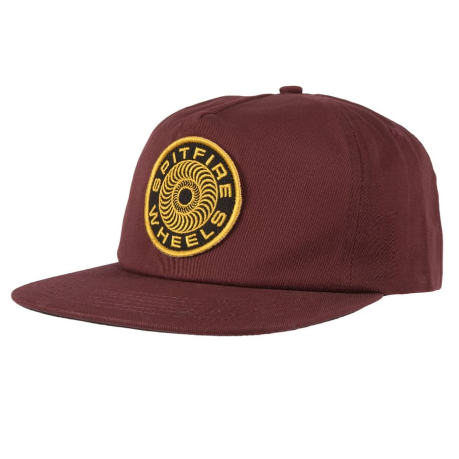 SPITFIRE Classic 87' Swirl Patch Snapback Hat Brown/Yellow | Snapback Cap by Spitfire Wheels 1