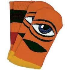 Toy Machine Sect Eye Big Stripe Crew Sock Orange   Socks by Toy Machine 1