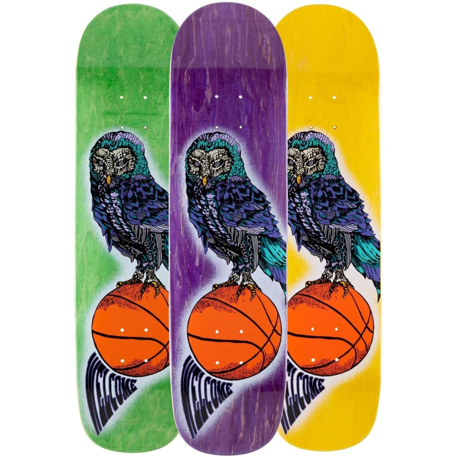Welcome Hooter Shooter on Bunyip Deck   Deck by Welcome Skateboards 1