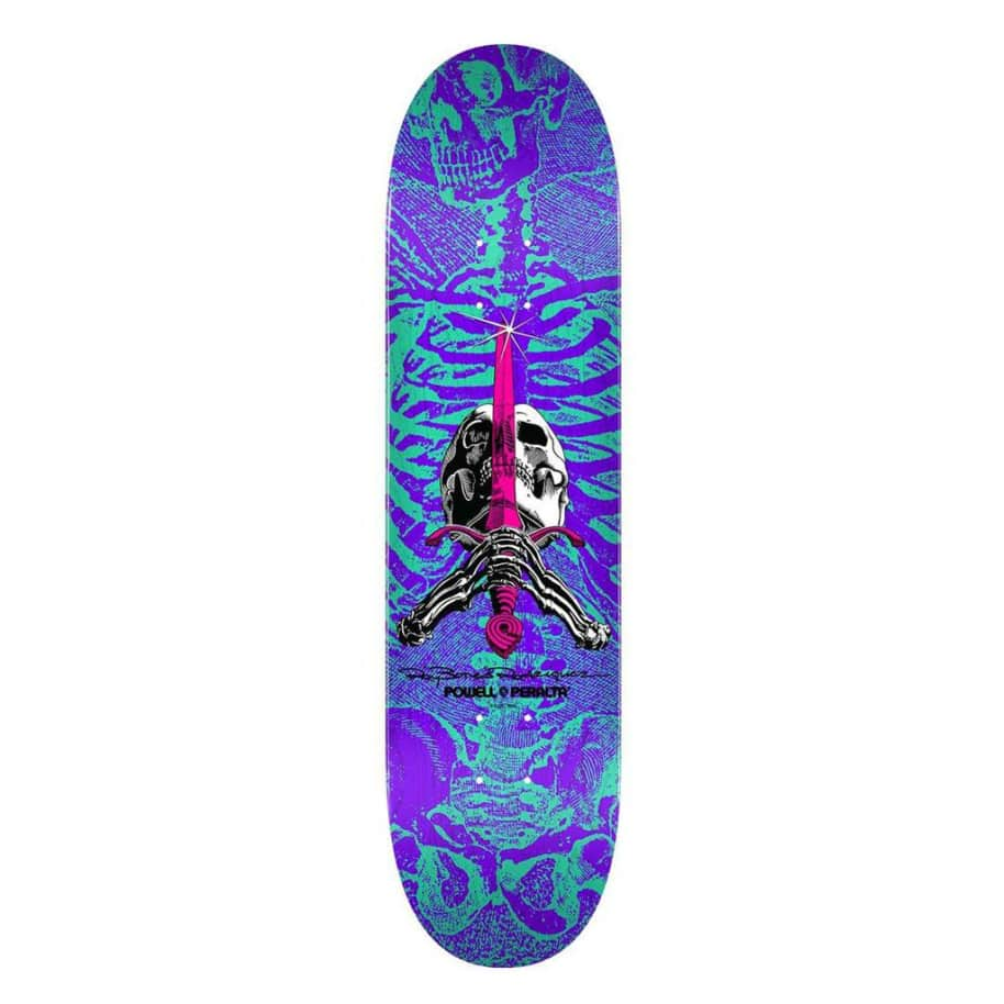 Skull and Sword - Turqouise/Purple - 8.25 | Deck by Powell Peralta 1