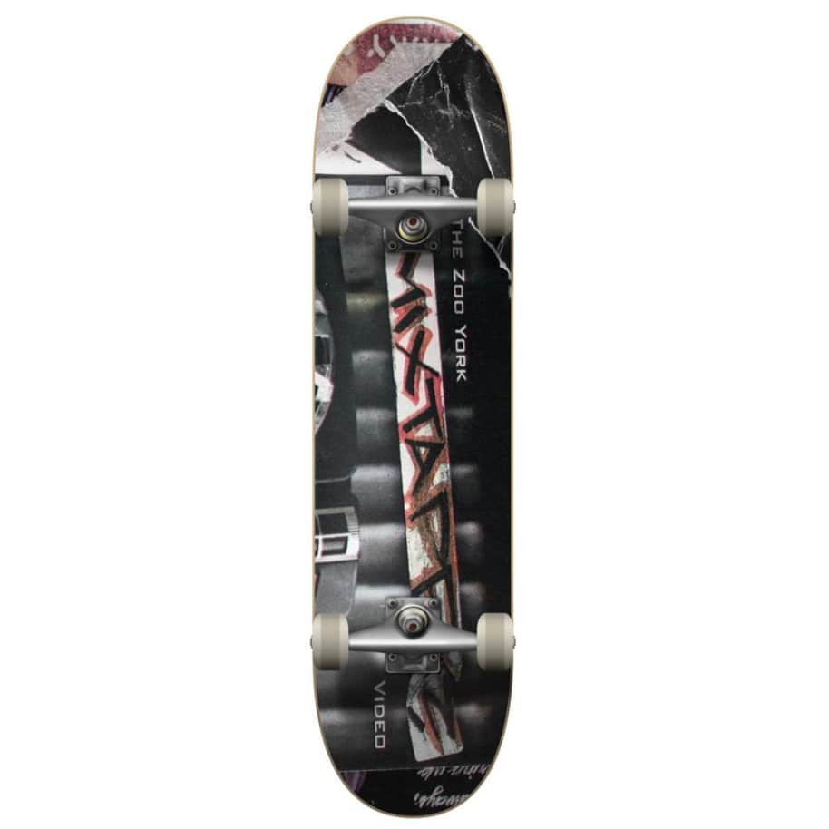 """Zoo York - Mix Tape Complete Skateboard 8"""" Wide   Complete Skateboard by Zoo York 1"""